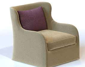 3D model Gregorius Pineo Paloma Lowback Lounge Chair