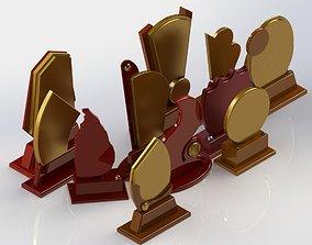 Plaque Model Set 3D
