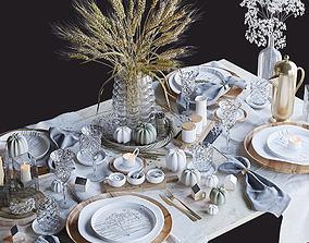 3D model Tableware autumn set