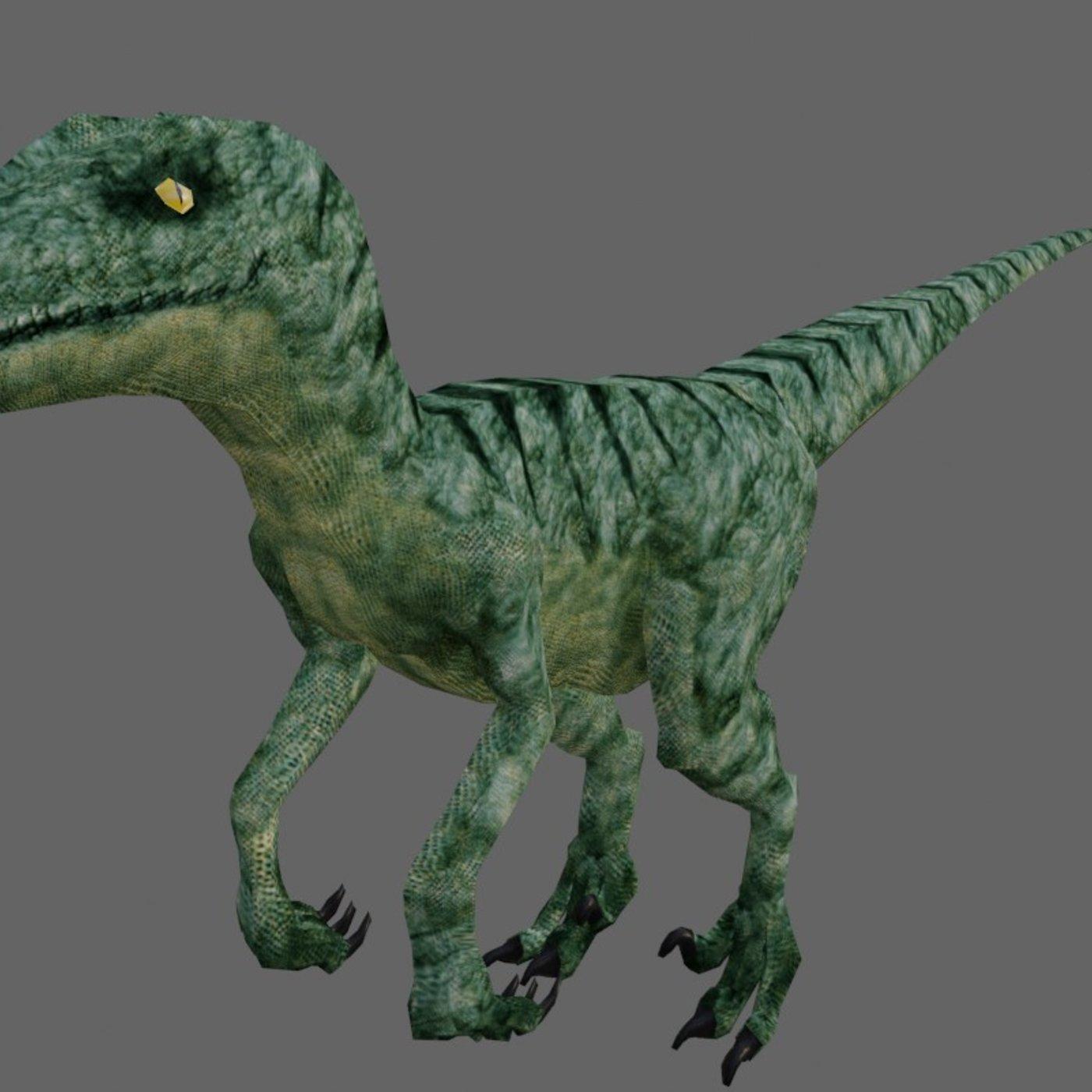 Velociraptor Low Poly