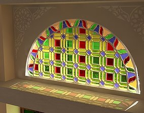 Qamaria stained glasses windows - 3D model
