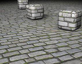 Cobblestone 3D asset