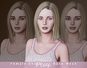 Female Character Base Mesh Plus VER001 3D model