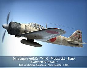 3D Mitsubishi A6M2 Zero - Carrier Shokaku