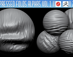 Compressed Folds Alphas ZBrush 3D model