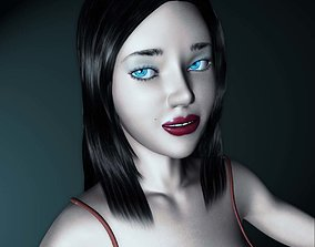 3D asset Ella Female Rigged Character