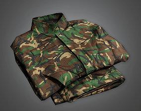 MLT - Military Folded Clothes Uniform - PBR Game 3D model