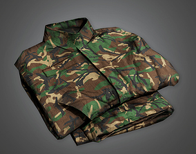 Military Folded Clothes Uniform - MLT - PBR Game 3D model
