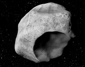 Mathilde asteroid game ready 3D model