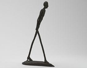 Black Stone Human Figure 3D model