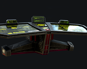 Sci-Fi Console Computer Base 1 3D asset