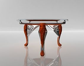 Classic carved table 3D asset