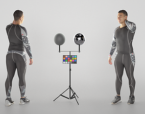 3D model realtime Handsome young man in sportswear 329