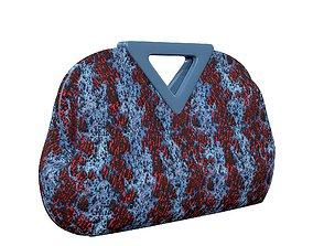 Bottega Veneta Medium Point Bag Blue Knit Pouch 3D asset