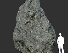 3D model Low poly Damaged Black Rock 09
