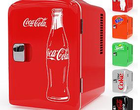 sprite 3D model Mini Fridge Coca cola