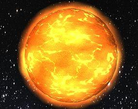 3D model Low poly sun