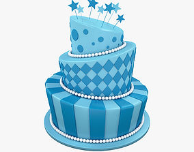 Birthday cake confectionery 3D model