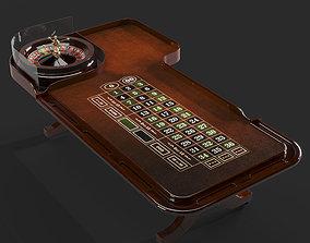 gambling 3D model casino roulette table