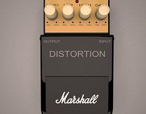 3D model Marshall distortion pedal