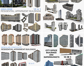 3D model Collection City Residential and Office 3