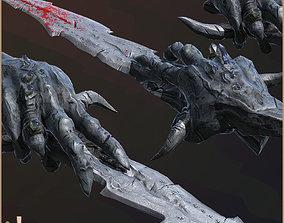 Legendary Damned Sword 3D asset low-poly