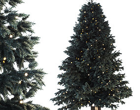Christmas tree with gifts 3D model PBR