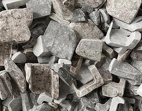 Splinter brick trash n1 3D bunch
