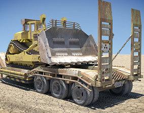 Bulldozer Trailer 3D asset