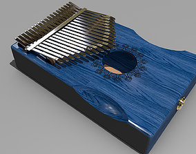 Blue Kalimba Acoustic Piano 3D asset game-ready