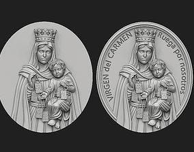 3D print model Virgen del Carmen Medallion Set