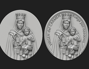 Virgen del Carmen Medallion Set 3D print model