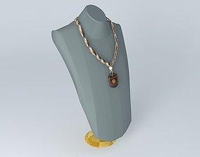 3D model Amber Celtic Bold Necklace