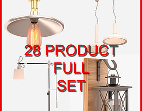 Interior Lamp Set 002 28 Product 3D