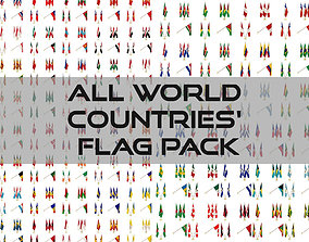 All world countries flag pack 3D model