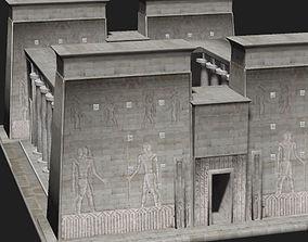 3D asset low-poly Temple architectural