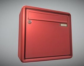 Mailbox 1 - Low-Poly-Verion 3D model game-ready