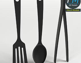 3D Three kitchen tools set