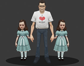 Low poly Stephen King 3D asset