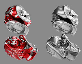 Crushed Soda Can 06 3D