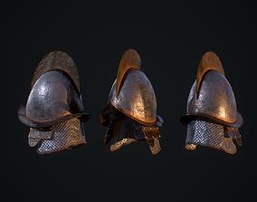 3D asset low-poly Helmet D200309