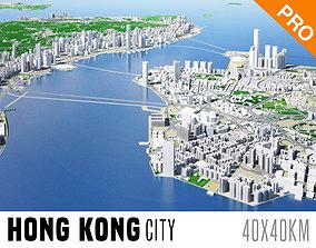 Hong Kong City And Surroundings China Low Poly VR 3D model