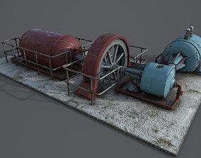 3D model VR / AR ready Diesel generator