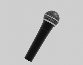 3D model VR / AR ready technology Microphone