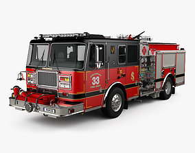 3D model Seagrave Marauder II Fire Truck 2014