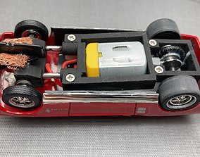 adjustable slot car chassis scalextric 3D print model