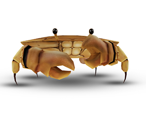 Hand Painted Crab Model 3D asset