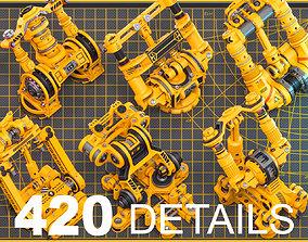 Sci-Fi Hard Surface Mechanical KITBASH 420 DETAILS 3D