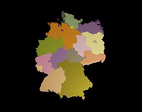realtime Germany 3D Map with states