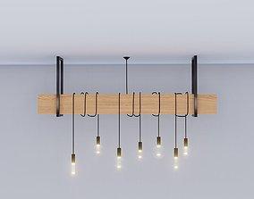 lustre Industrial lamp - chandelier light 3D